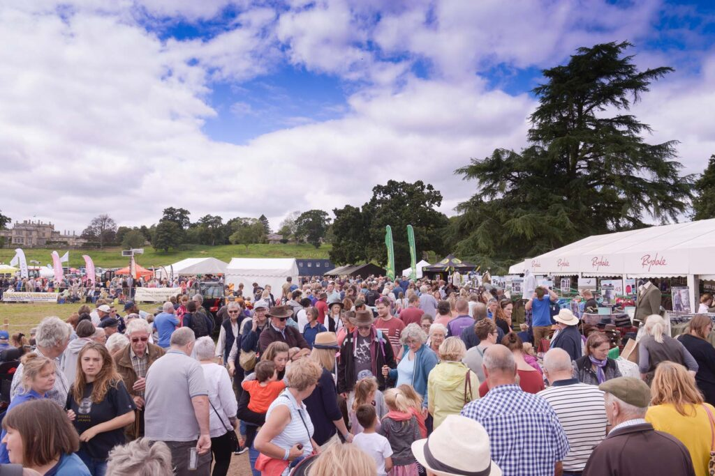 Visitors to Ellingham Show